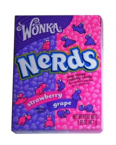 Wonka Nerds box strawberry-grape